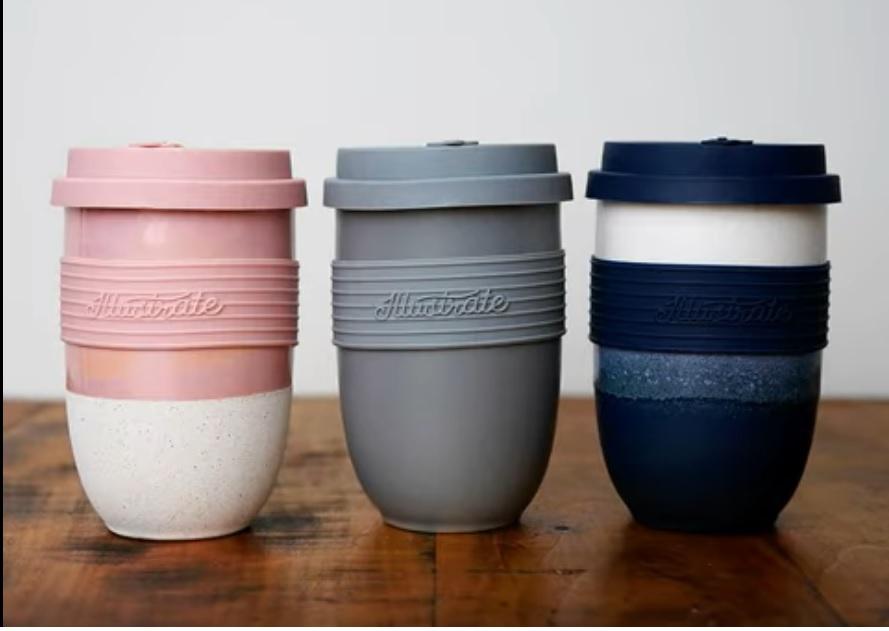 Reisebecher aus Keramik