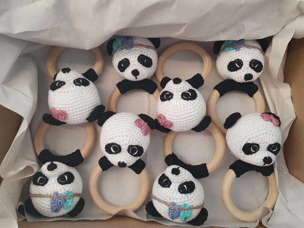 Panda&Hase Baby Spielzeug