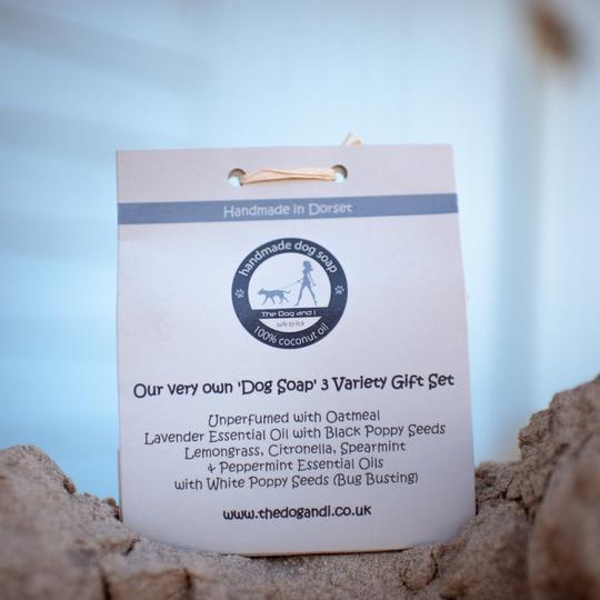 100% Kokosnuss-Öl Hundeseife - Dreifach-Seifen-Geschenkset