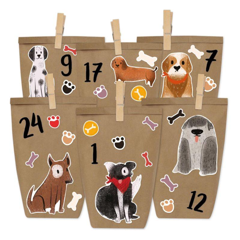 Adventskalenderset –  Hunde Motiv