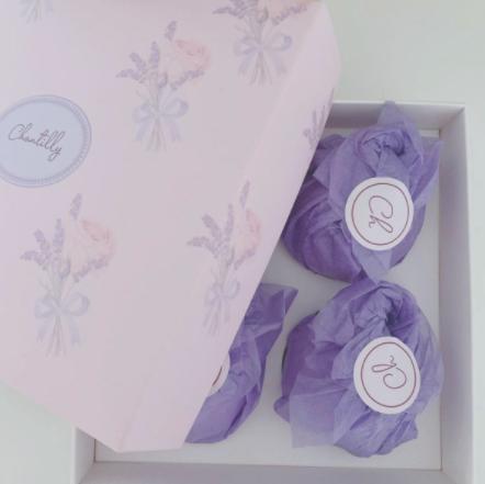 SOFT ORANGE und SOFT ROSE 4 Badebomben set + Geschenkbox