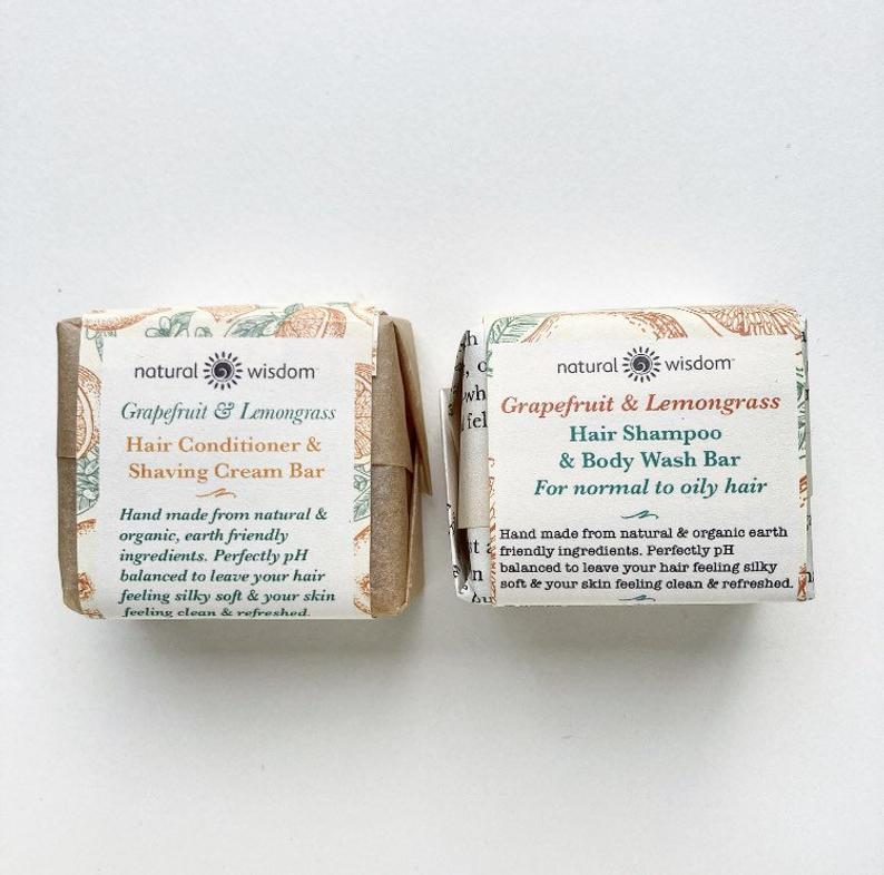 Grapefruit-Zitronengras-Shampoo & Conditioner-Set - Fettiges Haar