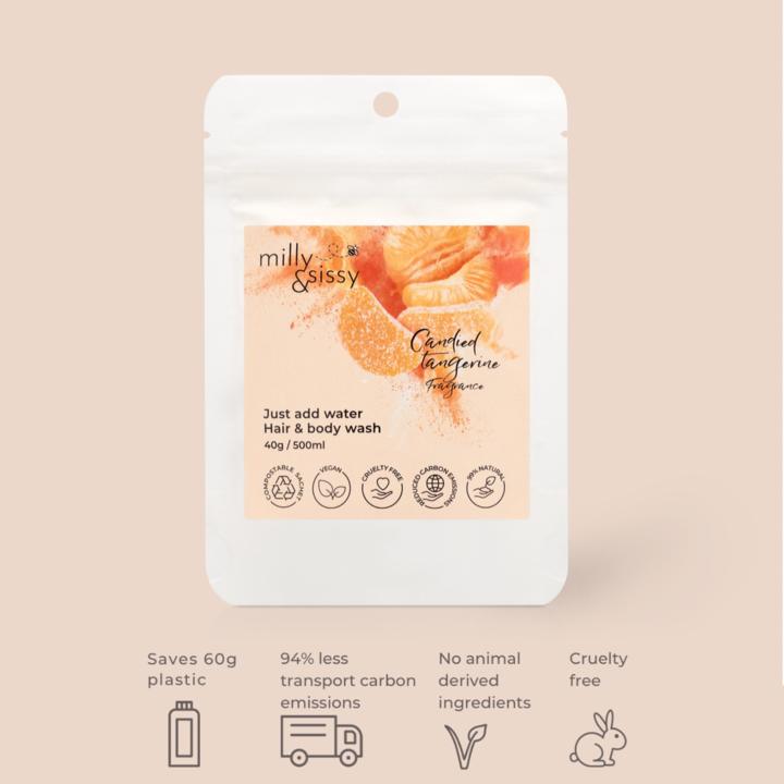 Zero Waste Candied Tangerine Hair & Body Wash Refill
